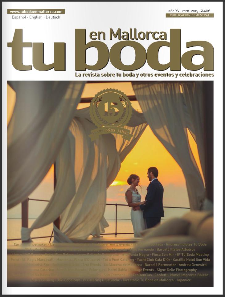 Reportaje revista Tu Boda en Mallorca / Article in Tu Boda en Mallorca magazine