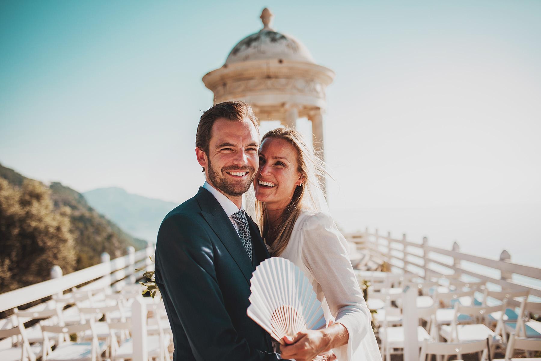 Maria y Erik, de Noruega al atardecer de Mallorca